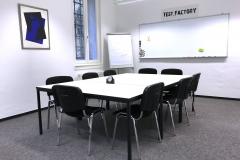 Test.Factory: Gruppenraum für bis zu 12 Personen und Live-Stream Technologie